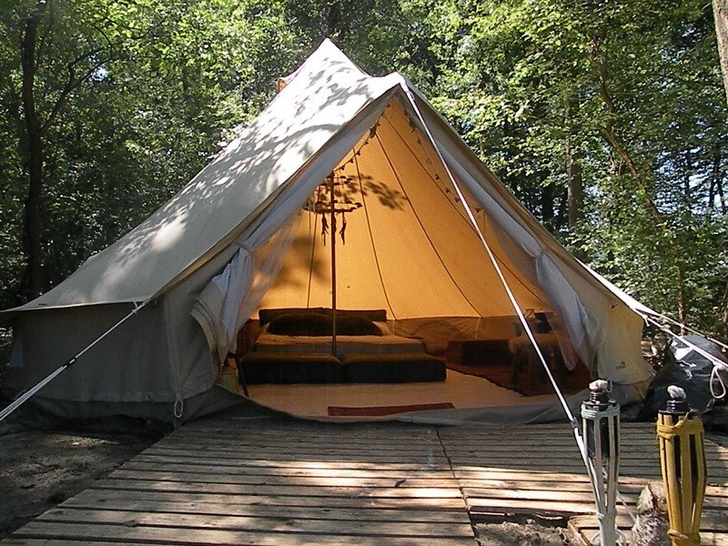 Bijzonder kamperen in een Tipi tent OrigineelOvernachten